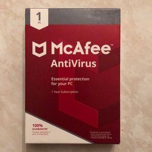 McAfee AntiVirus 1 PC/1 Year Subscription